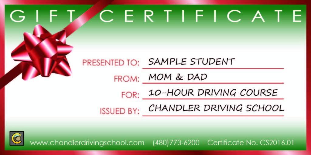 Behind the wheel instruction in chandler gift certificate xmas yadclub